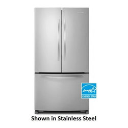 """KitchenAid - Architect II KBFS20ECWH 36"""" Counter Depth Bottom Freezer Refrigerator with 20 cu - This Kitchenaid counter depth bottom freezer refrigerator has a 20 cuft capacity This refrigerator features an interior water dispenser with a filtration system and an automatic icemaker Beautiful and bright LED lights illuminate the interior when th..."""