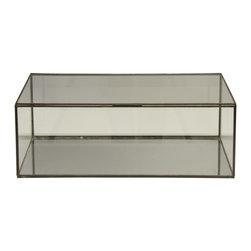 Worlds Away Glass Box - Rectangular clear glass box