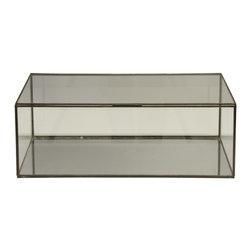 Worlds Away Glass Box - Rectangular clear glass box