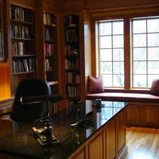 Traditional Home Office by d.schmunk interior design services