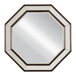 "Stanley Furniture - Hudson Street Octagonal Mirror - Dark Espresso Finish - Beveled plate view area: 30 1/8"" in diameter Made to order in America."