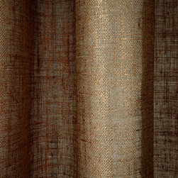 Linen Sheer Metallic Drapery in Copper - Discount 100% Belgian Linen Sheer Metallic Drapery Fabric in Copper can be used as drapes, curtains, canopy, or wall covering (if backed).