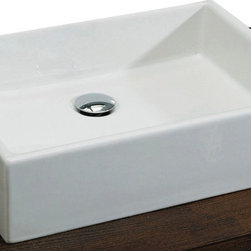 St Thomas Creations - St Thomas Creations 1350.200.01 Box-Style 50-cm Above Counter Lavatory Sink in W - Above Counter Lavatory Sink in White belongs to Box 50 Above  Collection by St Thomas Creations Miro Ceramica from the St. Thomas Creations is the perfect blending of intelligent Italian design with the simplicity of European contemporary style. Manufactured of fine fireclay, Miro Ceramica's clean, uninterrupted lines are enhanced with metal, glass and wood to create versatile designs for complete personalization in your bathroom decor  Sink (1)