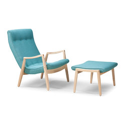 Scoop Too Chair and Ottoman by Milo Baughman