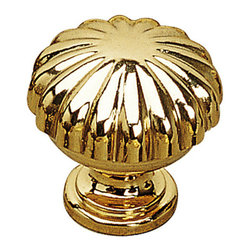 """Louis Xv Collection Solid Brass Knob - 168 - Bp16830130 - Finish Brass Screw/Nail M4 (Included) Diameter 1.188"""" Collections Louis XV Collection Material Solid Brass Length - Overall Dimensions 1.188"""" Projection - Overall Dimensions 1.188"""" Packaging format Bag"""