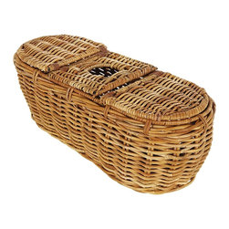 Eco Displayware - Rattan Tissue Holder in Natural - Great for closet, bath, pantry, office or toy and game storage. Earth friendly. 18 in. L x 7.5 in. W x 7.5 in. H (3.68 lbs.)These natural colored baskets add warmth and charm and keep you organized.