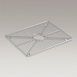 "KOHLER - KOHLER Stainless steel sink rack, 19"" x 15-1/16"" for Stages(TM) 33"" kitchen sink - Protect the beauty of your Stages 33-inch sink with a sink rack. Designed to conveniently fit the bottom, this stainless-steel rack helps safeguard your fragile dishes and protects the sink's surface."