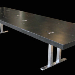 Silver & Black  Tall Tree Table - Silver & Black  Tall Tree Table