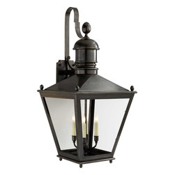 Large Sussex Bracket Lantern - This handsome lantern is a wonderful way to welcome guests at night and light up your front porch. It's also a great choice for a screened-in porch or patio.