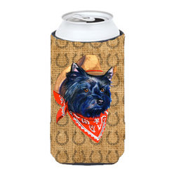 Caroline's Treasures - Cairn Terrier Dog Country Lucky Horseshoe Tall Boy Koozie Hugger - Cairn Terrier Dog Country Lucky Horseshoe Tall Boy Koozie Hugger Fits 22 oz. to 24 oz. cans or pint bottles. Great collapsible koozie for Energy Drinks or large Iced Tea beverages. Great to keep track of your beverage and add a bit of flair to a gathering. Match with one of the insulated coolers or coasters for a nice gift pack. Wash the hugger in your dishwasher or clothes washer. Design will not come off.