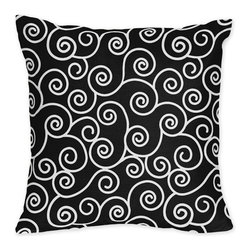 Sweet Jojo Designs - Madison Scroll Print Pillow - The Madison Scroll Print Pillow will help complete the look of your Sweet Jojo Designs room. This adorable accent pillow can be used on a bed, chair or sofa.
