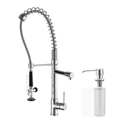 Kraus - Kraus KPF-1602-KSD-30CH Single Handle Pull Down Kitchen Faucet - Update the look of your kitchen with this multi-functional Kraus Pull-Down faucet