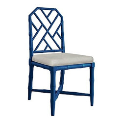 Bungalow 5 - Jardin Dining Chairs, Blue, Side Chair - Solid Birch: