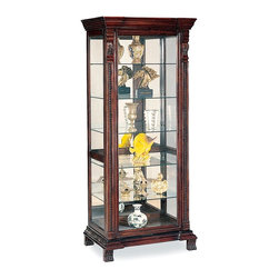 Coaster - Cappuccino Traditional Curio - This six-shelved curio is a perfect, space-concious way to display collectables. It can also be used for storage.