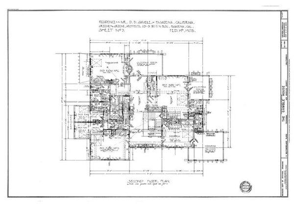 Craftsman Floor Plan Gamble House