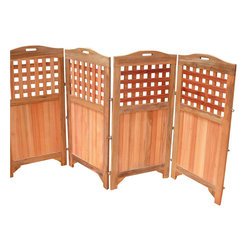 Vifah - Vifah Outdoor and Indoor Hardwood Teak Privacy Screen - Vifah - Room Dividers - V163 - The privacy screen is made of 100% Premium Plantation Teak and can be used virtually anywhere including on the patio, around the pool, deck, porch, garden, balcony or even indoors. Very little assembly needed and simple folding mechanism even gives you the opportunity to take the screen with you on vacation if you wish.