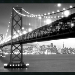 "Amanti Art - ""San Francisco"" Framed with Gel-Coated Finish - If you love San Francisco, then you know that one of life's great pleasures is driving across the Bay Bridge into the city at night, taking in the gleaming lights. This spectacular black and white photograph captures the enchantment of that experience, so you can enjoy it everyday. Framed and ready for your wall. Made in the USA."