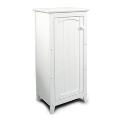 Catskill Craftsmen - Cottage Collection - Storage Cabinet w Door & - This versatile storage cabinet will bring both style and function to any room of your home. Featuring a wainscoted door for a cottage inspired appeal, the cabinet is constructed of rubberwood and MDF and is finished in a crisp shade of white ideal for bedroom, bath or kitchen. Cottage Collection. Made of Rubberwood/MDF lacquered wood. White lacquered finish. Solidly constructed with warp-resistant materials. Interior shelves on the Jelly cabinet. Wainscoted doors with wooden knob. Overall: 12.5 in. L x 16.25 in. W x 36 in. H (27 lbs.). Table top: 12.5 in. L x 16.25 in W. Interior cabinet: 9.5 in. L x 14.5 in. W x 29 in. HAs rugged and as beautiful as the Catskill Mountains, our imports reflect our commitment to quality.