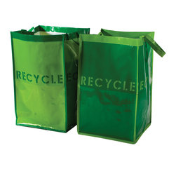 Great Useful Stuff - Kangaroom Storage Recycle Bags, Set of 2 - Made of recycled materials for your recycled materials, these bright, cheerful bags make it easy to be green. They're also completely washable, endlessly reusable and super sturdy, making them as simple to use as they are earth-friendly.