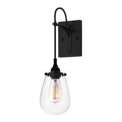 Sonneman Lighting - Sonneman Lighting 4290.25 Chelsea Sconce In Satin Black - Sonneman Lighting 4290.25 Chelsea Sconce In Satin Black