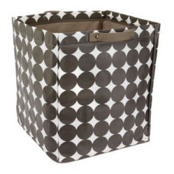 Chocolate Dots Large Storage Bin