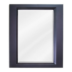 "Hardware Resources - Elements Bathroom Mirror - Espresso Dalton Mirror by Bath Elements. 23"" x 28"" espresso mirror with beveled glass. Corresponds with VAN068"