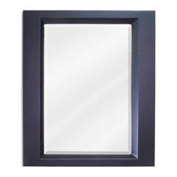 "Hardware Resources - Elements Bathroom Mirror - Espresso Dalton Mirror by Bath Elements 23"" x 28"" espresso mirror with beveled glass Corresponds with VAN068 -"