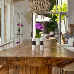Live Edge Suar Dining Table - Suar wood slab table