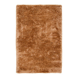 None - Hand-woven Brown Yuca Super Soft Shag Rug (8' x 10') - Hand-woven in polyester, this beautiful rug features colors of brown. This rug features extravagant details with a plush pile, making it a wonderful addition to your home.