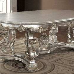 Yuan Tai Furniture - Melamed Wood Table with Glass Top - ME1600T - Melamed Collection Dining Table