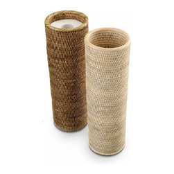 Modo Bath - Harmony 100 Reserve Toilet Paper Holder, Dark - Harmony 100 Reserve Toilet Paper Holder in Rattan Dark or Light
