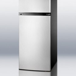 """Summit - FF1158SS 24""""  Top-Freezer Refrigerator with 10.3 cu. ft.  Energy Star Rated  Adj - Summits FF1158SS makes the ideal energy efficient addition to any kitchen looking for full storage capacity in a hard-to-find fit This refrigerator is energy star qualified so it saves on yearly running costs which is excellent for a family on a budg..."""