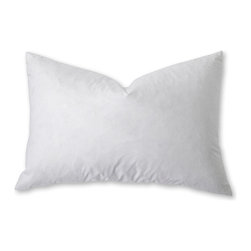 Sunflower - Feather Pillow - Drift off to dreamland on a down pillow worthy of a nursery rhyme. Soft feathers will cradle your head and neck for a wonderful night's sleep.   Feather / down Spot clean Imported