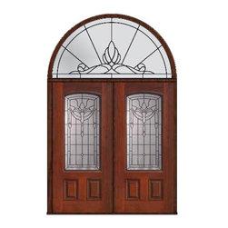 """Prehung Transom Double Door 80 Fiberglass Palacio Arch Lite Glass - SKU#MCT06195_DFAP2-HRUBrandGlassCraftDoor TypeExteriorManufacturer CollectionArch Lite Entry DoorsDoor ModelPalacioDoor MaterialFiberglassWoodgrainVeneerPrice4425Door Size Options2(36"""")[6'-0""""]  $0Core TypeDoor StyleDoor Lite StyleArch LiteDoor Panel Style2 PanelHome Style MatchingDoor ConstructionPrehanging OptionsPrehungPrehung ConfigurationDouble Door and Half Round TransomDoor Thickness (Inches)1.75Glass Thickness (Inches)Glass TypeDouble GlazedGlass CamingBlackGlass FeaturesTempered glassGlass StyleGlass TextureGlass ObscurityDoor FeaturesDoor ApprovalsEnergy Star , TCEQ , Wind-load Rated , AMD , NFRC-IG , IRC , NFRC-Safety GlassDoor FinishesDoor AccessoriesWeight (lbs)876Crating Size36"""" (w)x 108"""" (l)x 89"""" (h)Lead TimeSlab Doors: 7 Business DaysPrehung:14 Business DaysPrefinished, PreHung:21 Business DaysWarrantyFive (5) years limited warranty for the Fiberglass FinishThree (3) years limited warranty for MasterGrain Door Panel"""
