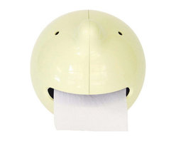 Modern Toilet Roll Holder - Ever met a real potty mouth? Well here's one that the whole family can enjoy. Cheeky chap Mr. Paper is happy to accommodate your basic needs in the bathroom and will faithfully serve in times of desperate need. Put your TP roll where his mouth is, and wipe that frown off your face.