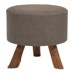 iMax - iMax Williamson Ottoman - Our Williamson ottoman features a woven jute covering and sturdy tanoak legs. Both handsome and versatile, use as a footrest, tray surface or for extra seating.