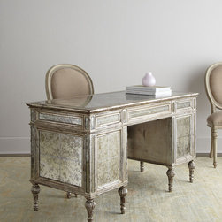 Sheridan Mirrored Desk - The sweet shimmery finish of this desk makes working feel fancy.