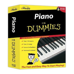 FOR DUMMIES - FOR DUMMIES FD12093 Piano for Dummies - Interactive educational software; Over 50 songs with recorded audio & variable-speed MIDI tracks; Interactive feedback on playing mistakes with MIDI keyboard; Animated keyboard displays fingerings as music plays; Piano teacher Irma Irene Justicia, M.A., from Juilliard School of Music, guides user through over 150 step-by-step video-enhanced lessons; Learn to master basics of piano, read music notation, play melodies & create harmonies; Metronome; Recorder; Review & ear training; Accompaniments; Live record
