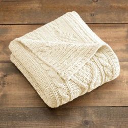 Cable Knit Throw - Cable Knit Throw by GAIAM