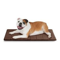 Microdry - Microdry Ultimate Luxury Memory Foam 34-Inch x 22-Inch Crate Mat - Microdry Ultimate Luxury Memory Foam Crate Mat elevates your dog's crate from container to cozy home. The polyurethane memory-foam fill provides contoured support and retains body heat for added coziness.