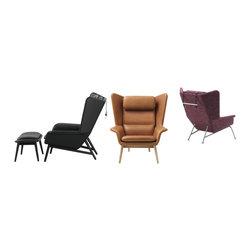 The Hamilton - Hamilton Chair, available in fabrics and leathers.