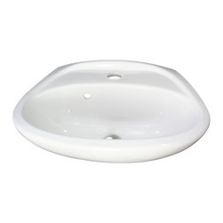 ALFI brand - ALFI brand AB106 White Rounded Porcelain Wall Mount Bathroom Sink Basin - A simple small porcelain wall mounted bathroom sink is sometimes harder to find than you might think. This model has been selling very well due to its small size and convenient shape. Perfect for those small bathrooms or powder rooms.