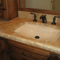 Mediterranean Bathroom Sinks by Custom Homes by Miller