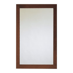 American Standard - Brook Rectangular Mirror in Cognac - American Standard 9273.101.335 Brook Rectangular Mirror in Cognac. The American Standard Brook 34 in. x 24 in. Cognac Framed Wall Mirror features a poplar wood construction with birch veneers to give the mirror a stylish look that can accommodate almost any decor. Hardware is included for mounting.American Standard 9273.101.335 Brook Rectangular Mirror in Cognac, Features:Poplar wood construction with birch veneers