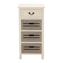 Unique Elegant Wood Tall Dresser - Description: