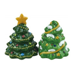 Westland - 3 Inch Festive Decorated Christmas Trees Salt and Pepper Shakers - This gorgeous 3 Inch Festive Decorated Christmas Trees Salt and Pepper Shakers has the finest details and highest quality you will find anywhere! 3 Inch Festive Decorated Christmas Trees Salt and Pepper Shakers is truly remarkable.