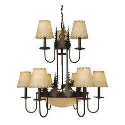 Vaxcel Lighting - Vaxcel Lighting CH55609BBZ Yellowstone Traditional Chandelier - Scenic combinations which bring the great outdoors through the entrance and into your lodge.