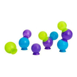 Boon - Bubbles Bath Toy - Bubbles: their only imperfection is a short life span. Until now. Stick these bubble suction cups on each other, the bath or your kid. Bonus: No dry or itchy skin after using these bubbles! Features: -Set of 10 bubble toys. -Suction cups attach to the bath wall, each other and even your child. -Don't pop like real bubbles. -Stack, link and build fun shapes and structures. -BpA-free, Phthalate-free and PVC-free. -Recommended age: 12 months.