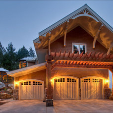 Traditional Garage And Shed by Leff Construction Design/Build