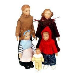 Town Square Miniatures Modern Vinyl Doll Family - This item is intended for collector dollhouses and is not recommended for children under 13 years of age.